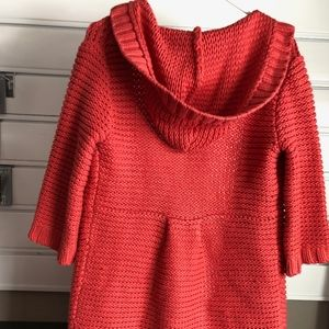 Cardigan button up sweater with hood